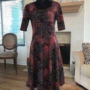 LuLaRoe Nicole dress, sz L